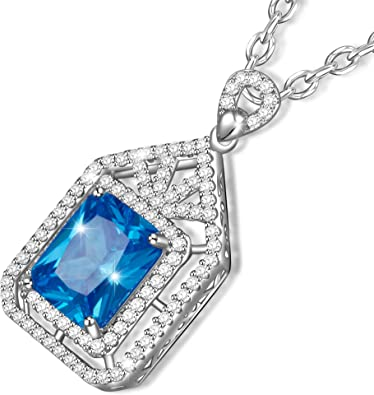 collier femme fantaisie bleu