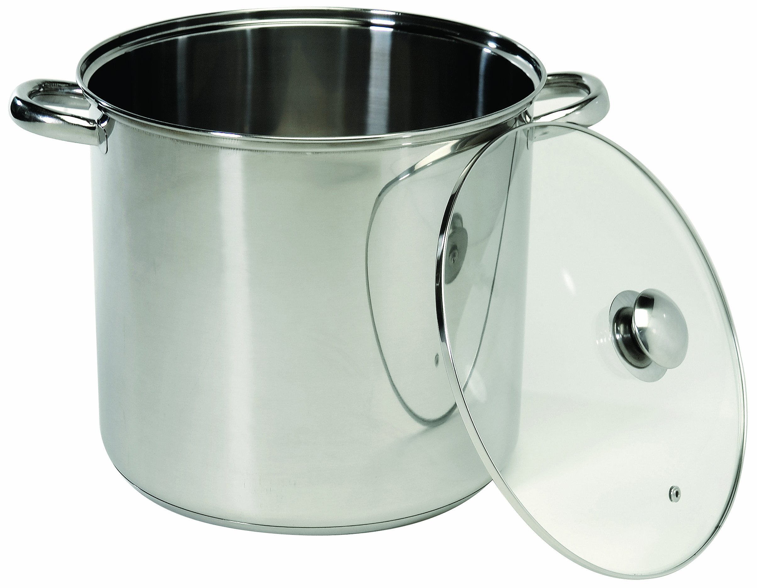 ExcelSteel 551 Stockpot with with Encapsulated Base, 20 quarts, Silver by ExcelSteel
