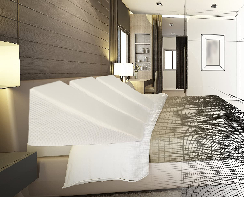 amazoncom bed wedge slant pillow wonderwedge engineering 26u201d x 25u201d x 11u201d memory foam elevated back cushion bamboo neck support
