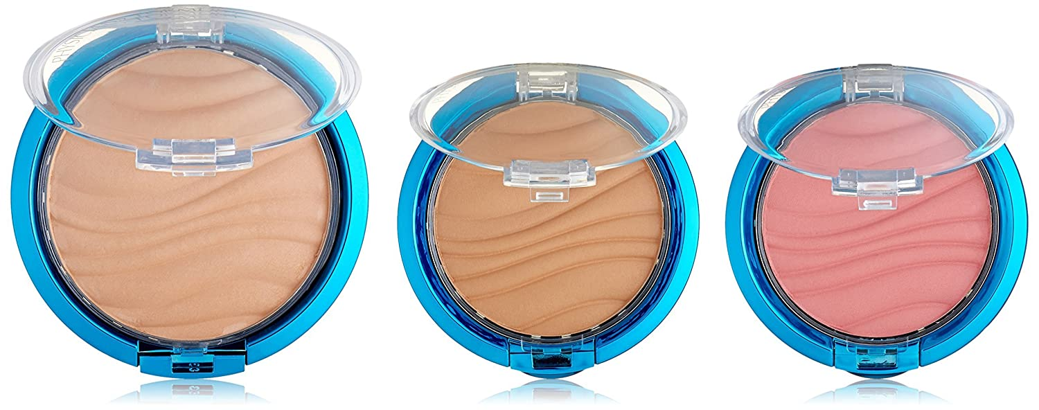 Physicians Formula Mineral Wear Flawless Airbrushing Kit, Light Complexion SPF30 - Airbrushing Loose Powder: 0.26oz, Airbrushing Bronzer: 0.11oz & Airbrushing Blush: 0.11oz 044386075894