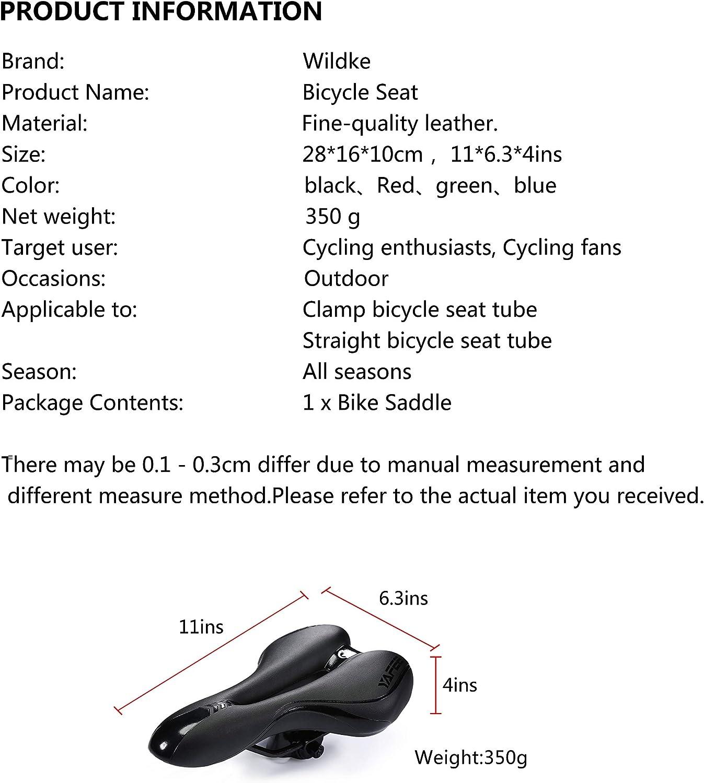 Asvert Sillin Bicicleta Gel MTB Carretera Asiento Ciclismo Superiorde Acero de Carbono