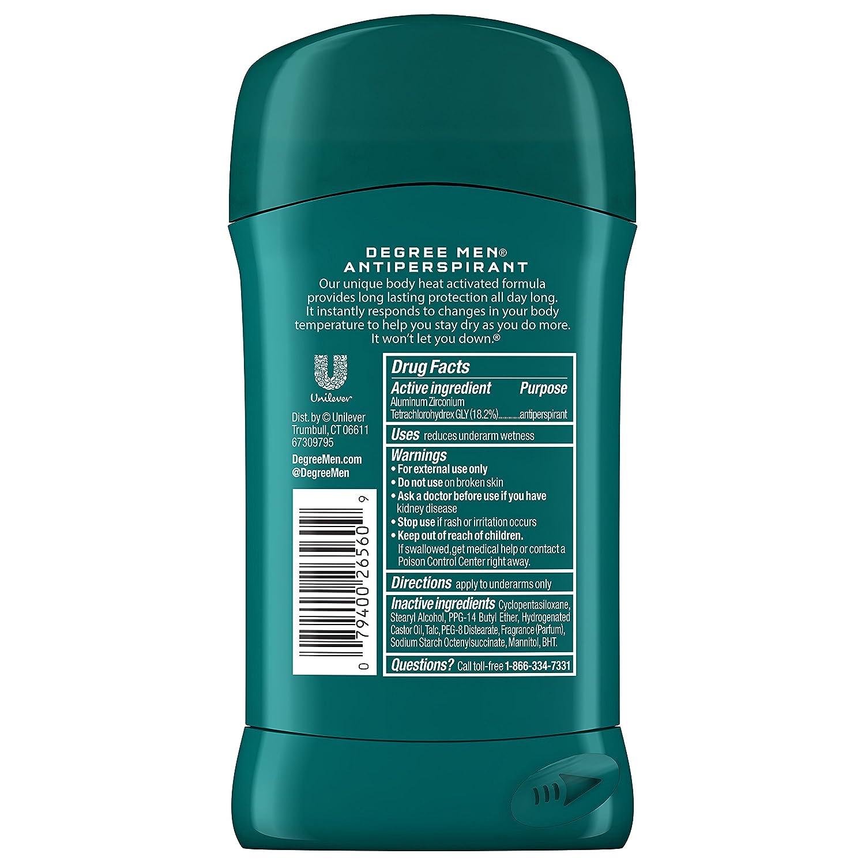 Degree Men Original Protection Antiperspirant Deodorant, Extreme Blast, 2.7 oz SINGLE : Antiperspirant Deodorants : Beauty
