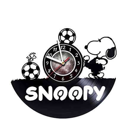 iskra shop snoopy football vinyl wall clock get unique gifts presents for birthday - Snoopy Christmas Gifts