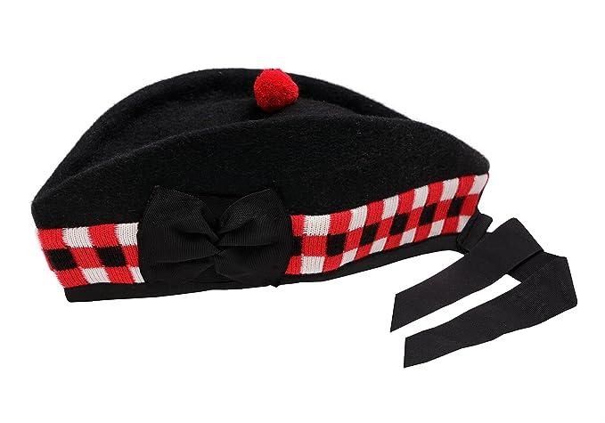prodotti caldi modelli alla moda Acquista i più venduti Cappello scozzese, 100% pura lana, nero, Glengarry Triple ...