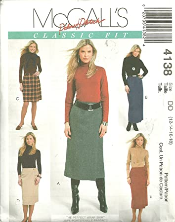Amazon.com: Misses Lined Wrap Skirt In Four Lengths McCall\'s Sewing ...