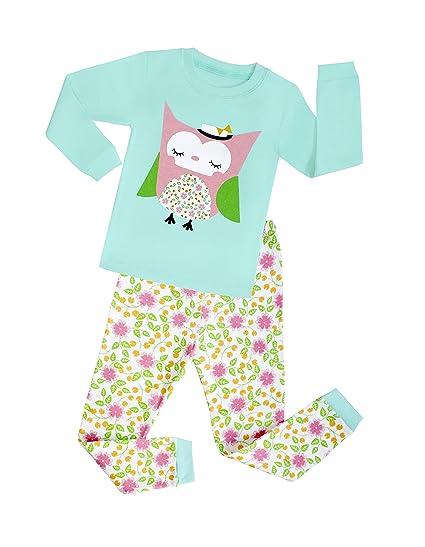 Tinaluling Baby Gifts 2pc Pijamas Girls Cartoon Pajamas Children Owl Printing Pyjamas Kids Sleepwear for 2