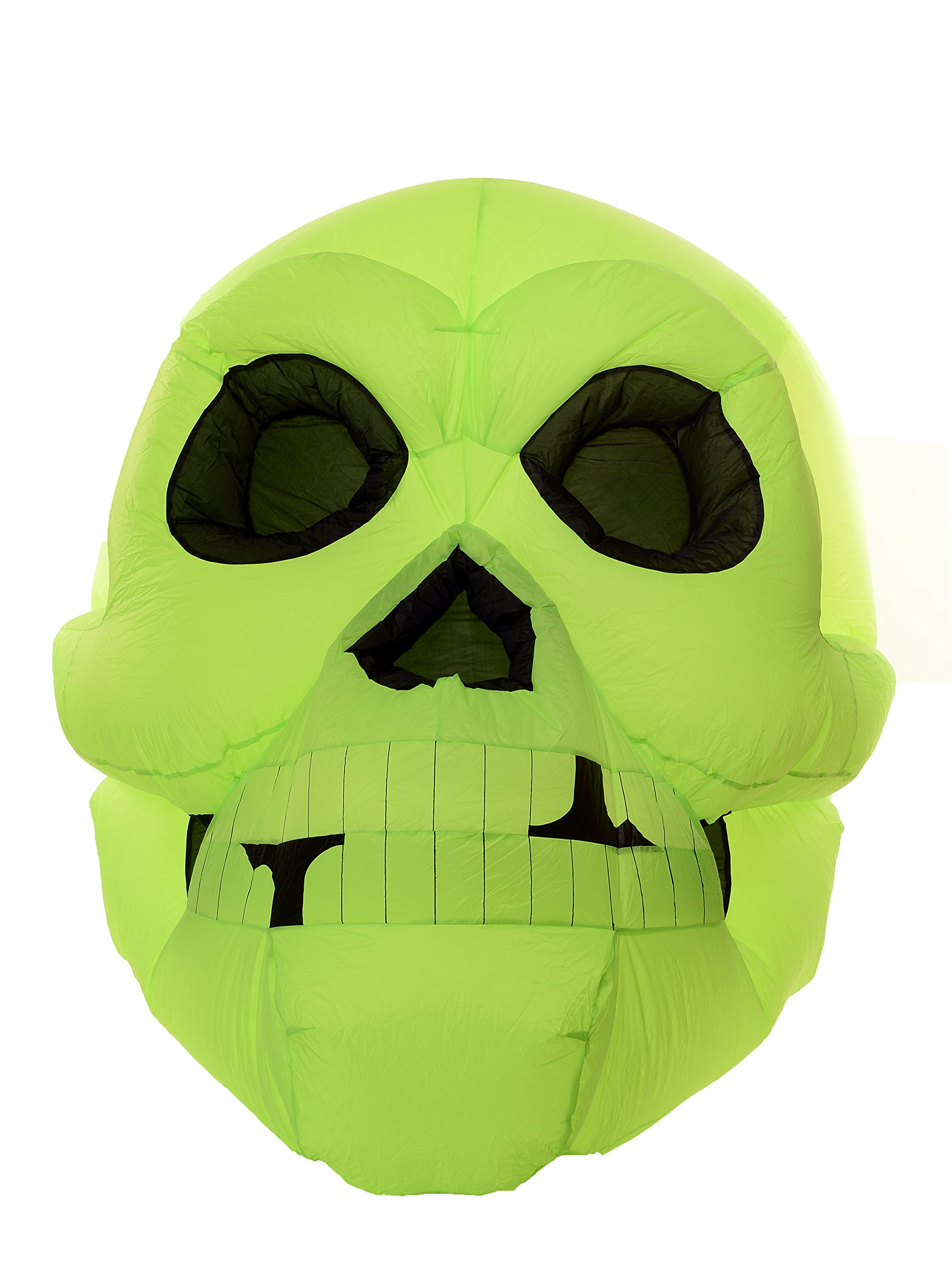 Huge 6.5 Foot Self Inflating Illuminated Giant Skull Yard Decoration Blow up Inflatable