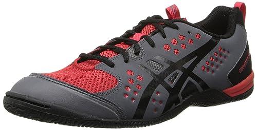 Zapatillas de entrenamiento Gel-Fortius TR para hombres de Asics, grafito / negro / rojo verdadero, 8 m US: Amazon.es: Zapatos y complementos