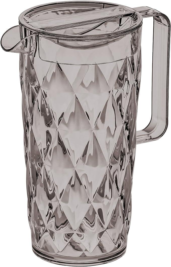 Koziol 3688540 Crystal Pichet Plastique Anthracite 10 x 16 x 22,5 cm 1,6 L