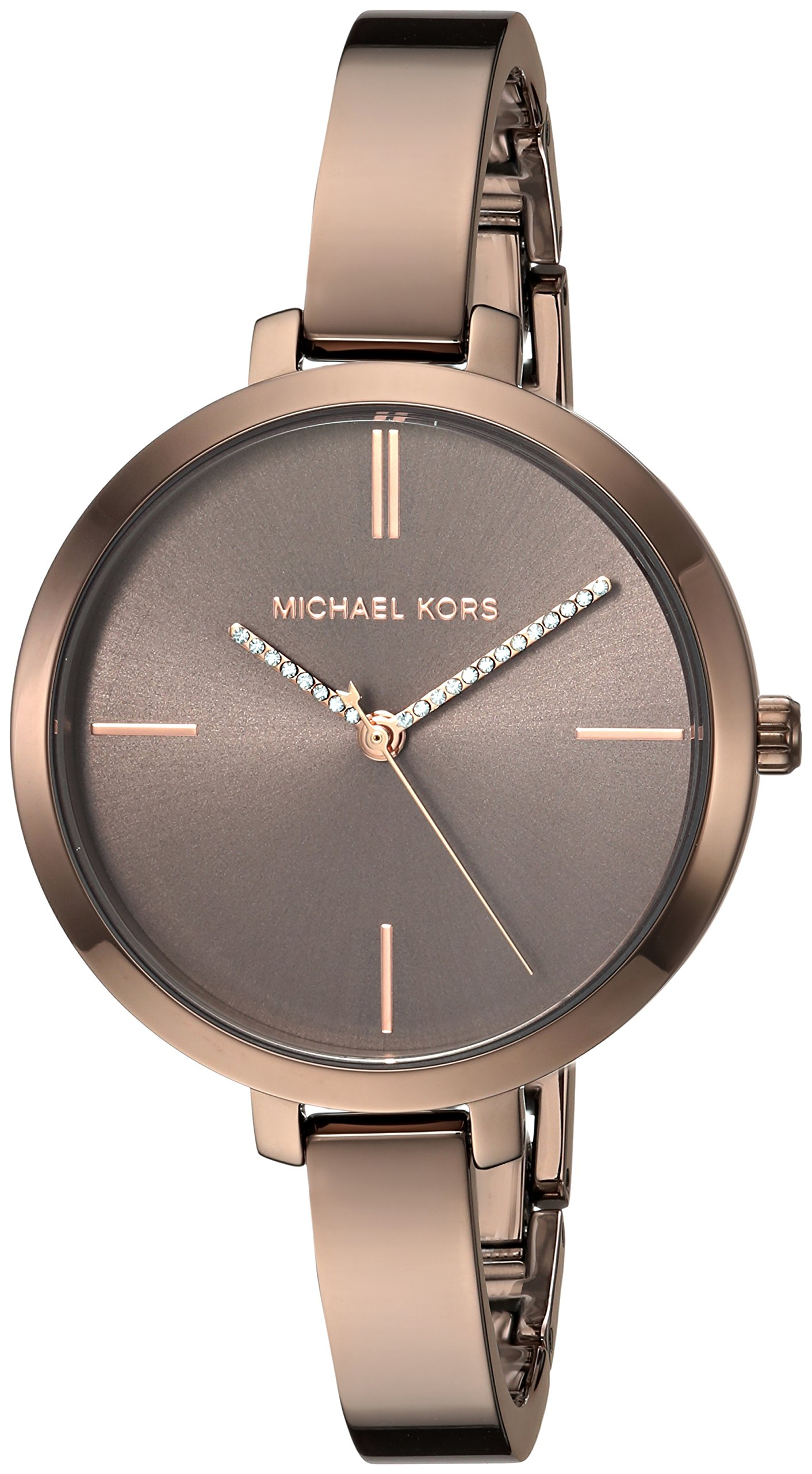 Michael Kors Women's 'Jaryn' Quartz Stainless Steel Casual Watch, Color:Brown (Model: MK3736)