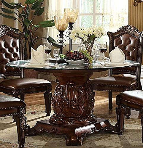 ACME Vendome Dining Table w Pedestal – 62010 – Cherry