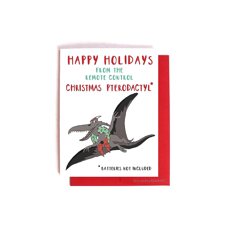 Amazon com: Christmas Pterodactyl Community Christmas Card
