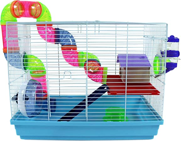 Easipet Hamster Cage Single Layer Suitable For Syrian Dwarf Hamster Gerbil Mouse Amazon Co Uk Pet Supplies