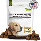 Probiotics for Dogs with Prebiotics - Daily Chews for Digestion, Regularity, Diarrhea Relief, Plus Supports Immune System and Health - Natural Supplement & Treat Made in USA