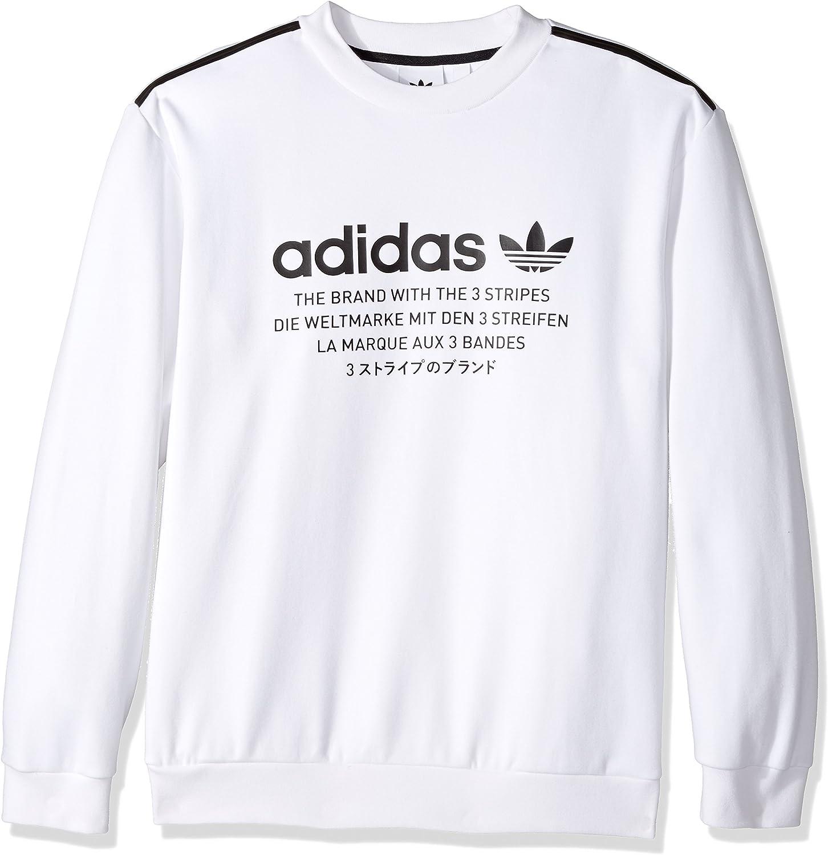 adidas Originals Men's Outerwear NMD Crew Sweatshirt, White