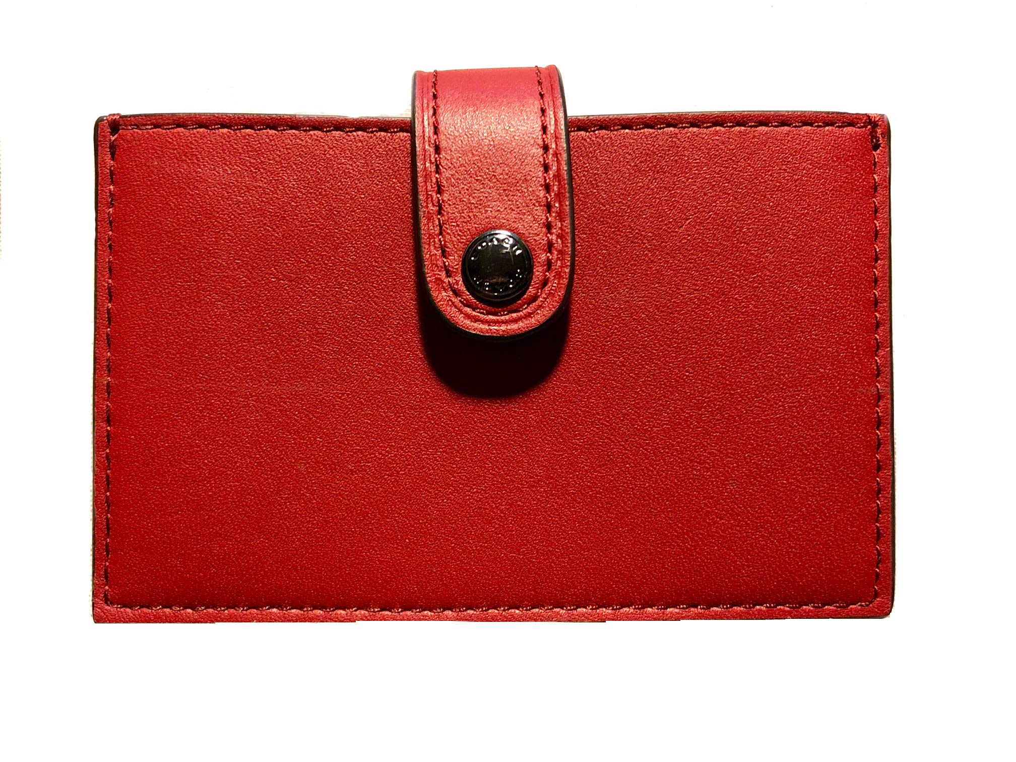 Coach Colorblock Accordian Card Case Holder - #F68393 - Dark Red by Coach