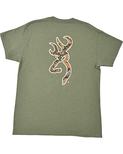 c3e05e19e600b Image Unavailable. Image not available for. Color  Browning Men s Heather  Green Mo Country Buckmark T-Shirt ...