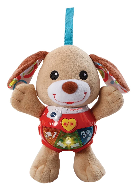 VTech - Peque Perrito de Peluche Interactivo con Canciones Voces y Actividades Que estimulan al bebé en Diferentes aspectos Desarrollo Motor, del lenguaje y ...