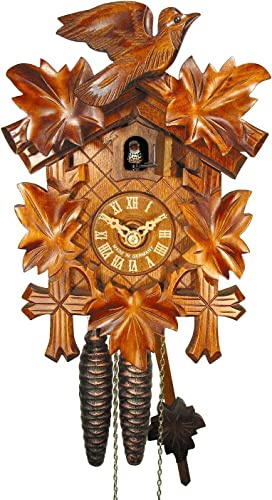 August Schwer Cuckoo Clock Five Leaves, Bird