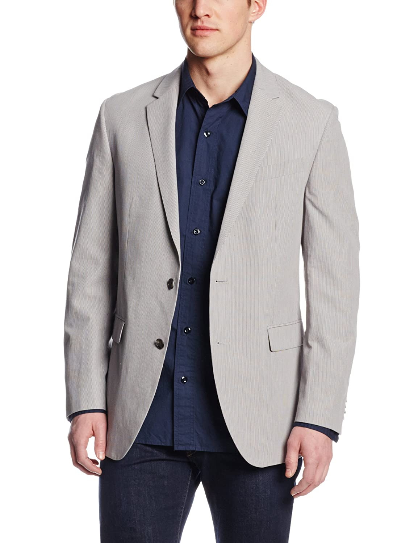 Kenneth Cole New York Men's Suit Separate Jacket Grey Stripe 38 Long 11258941-050
