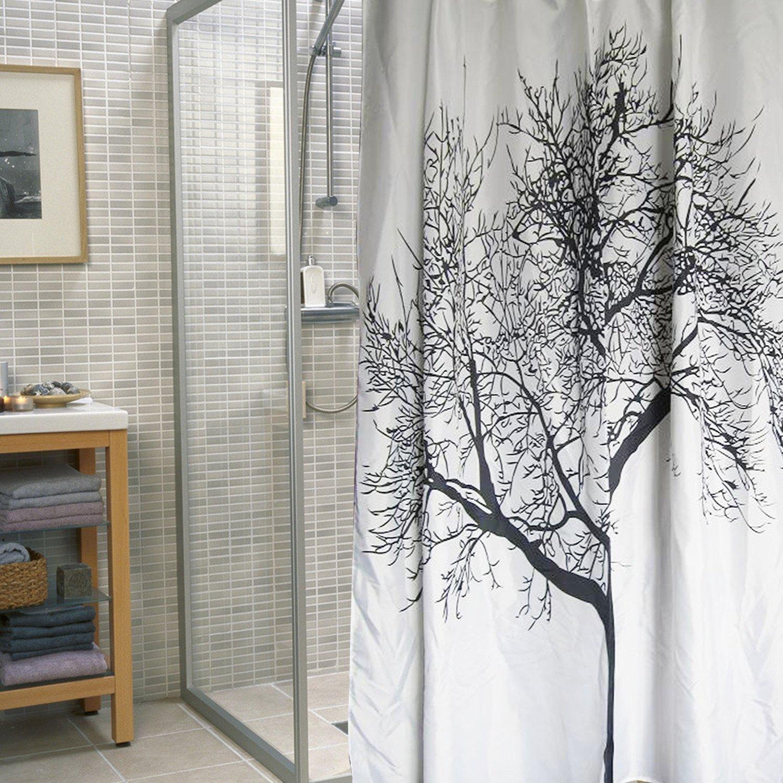 Birch tree shower curtains - Amazon Com Dozenegg Waterproof Shower Curtain With Tree Design 180 Cm X 180 Cm Home Kitchen