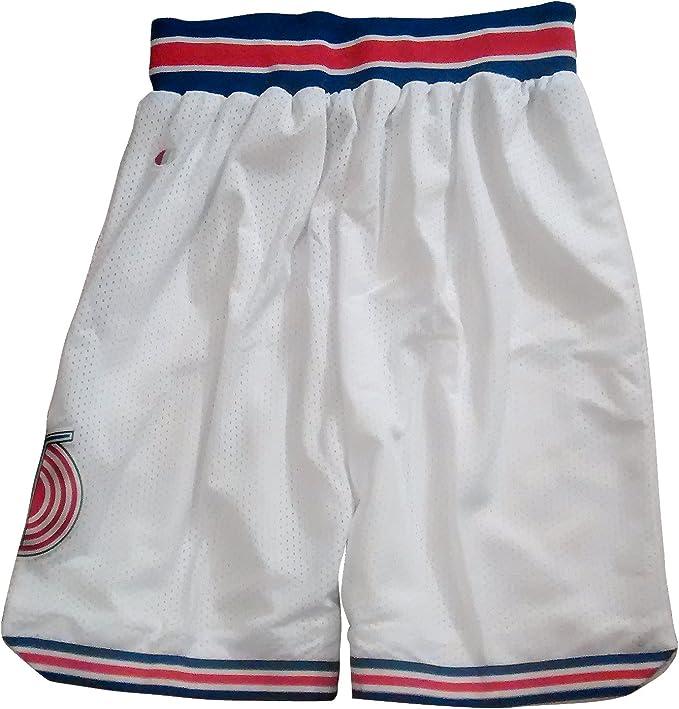 SPACE JAM Tune Squad Basketball Shorts White (Large)