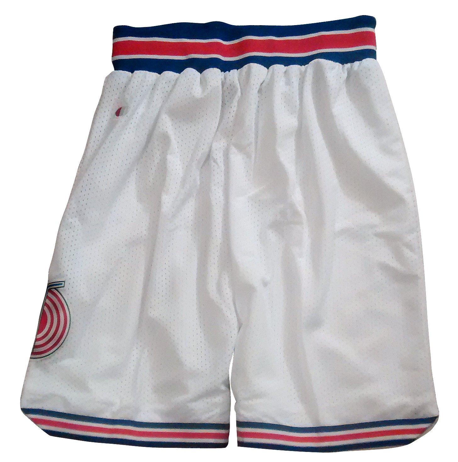 d032041ac85716 Amazon.com  Space Jam Basketball Tune Squad Shorts - White  Toys   Games