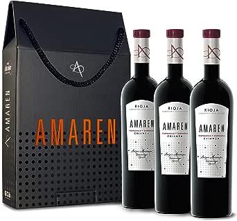 Amaren Crianza Vino Tinto Estuche 3 Botellas - 750 ml: Amazon.es: Alimentación y bebidas