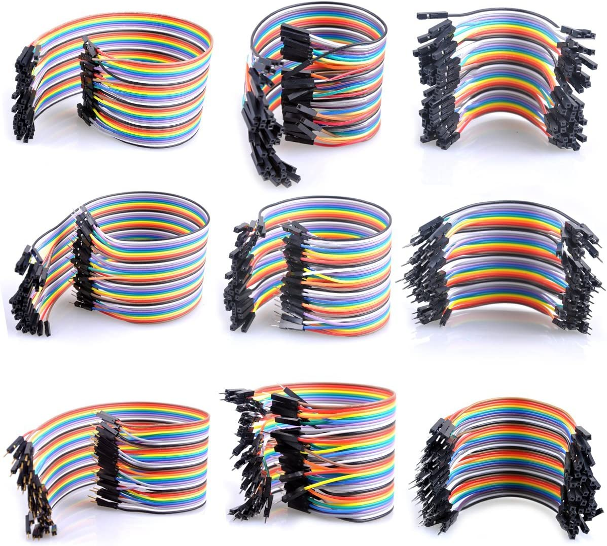 UCEC Breadboard Jumper Wires Ribbon Cables Kit Include Female to Male /& Female to Female /& Male to Male