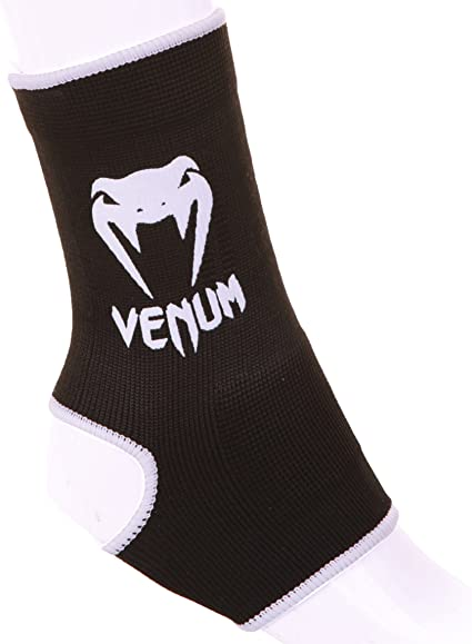 Venum Kontact Ankle Support Guard Anklets All Black Thai Boxing MMA Kickboxing