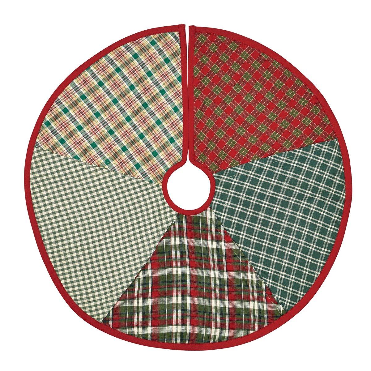 VHC Brands Christmas Holiday Decor - Forreston Red Mini Tree Skirt