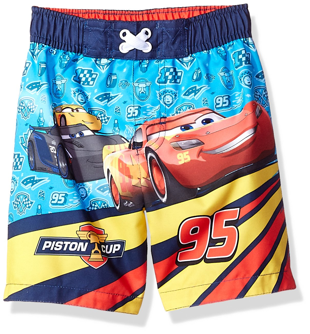 Disney Toddler Boys' Cars Character Swim Trunk, Sky Blue, 2T 2835241RS
