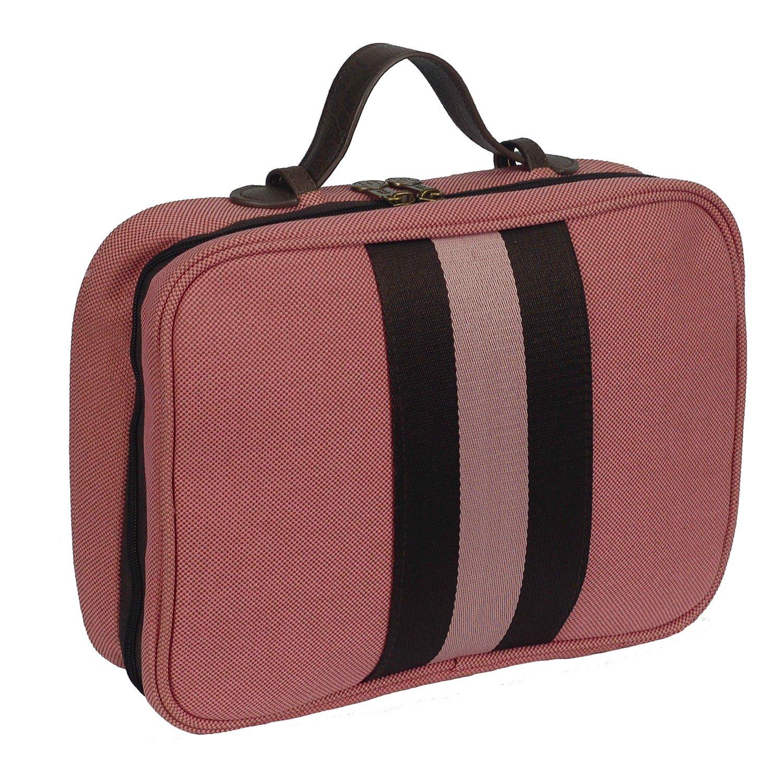 Bellemonde Hanging Toiletry Bag Travel Kit for Men and Women | Washable, Stain-resistant | Timeless Design Toiletry Organizer, Makeup Bag, Cosmetic Bag | Packs Flat 12'' x 10'' x 3.5'' | BL178BP Pink