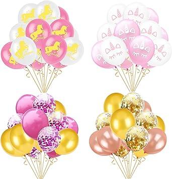 Amazon.com: 60 globos de unicornio para fiesta, decoraciones ...