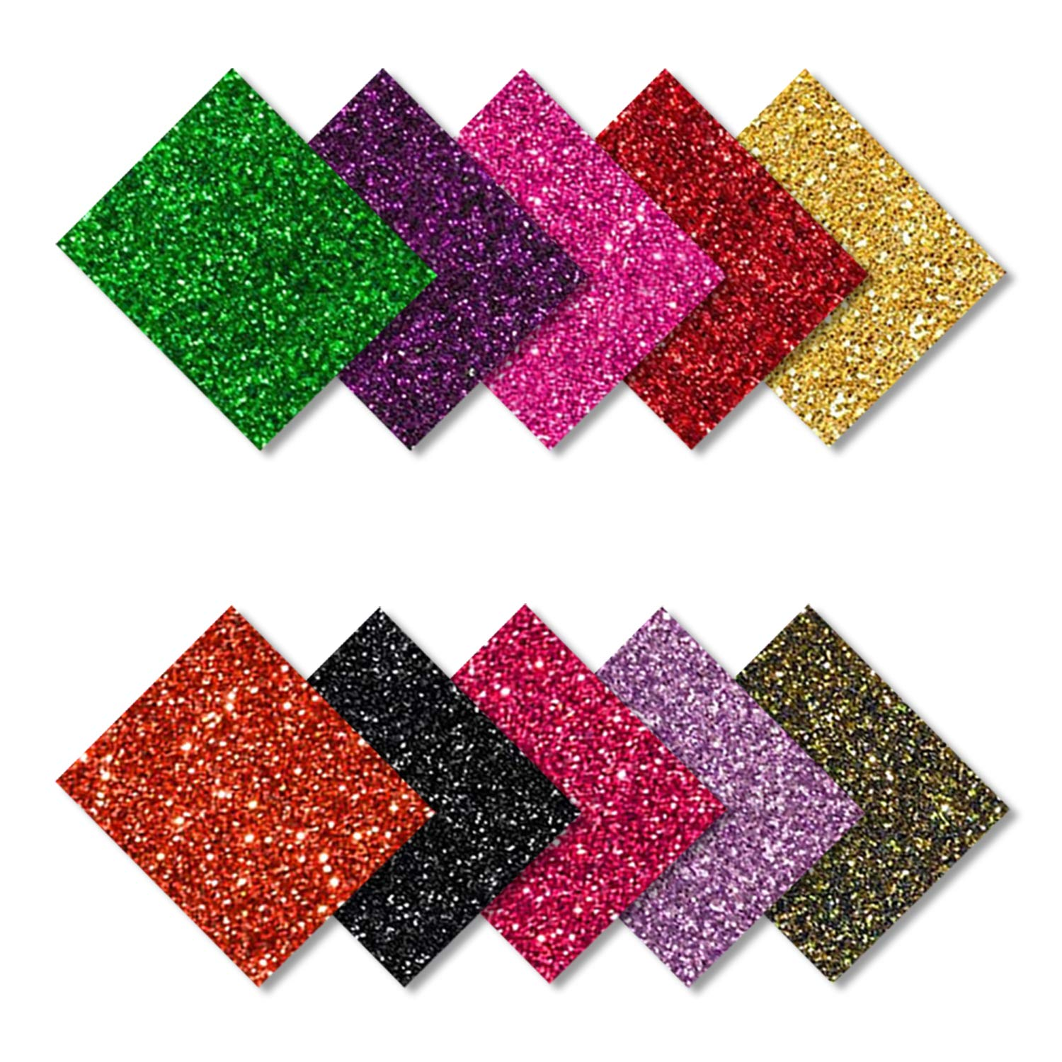 MiPremium PU Heat Transfer Vinyl - Iron On Vinyl Starter Pack, Assorted HTV Glitter Bundle