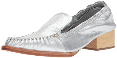 c3bf8240a6a Rachel Comey Women s Sinclair Slip-On Loafer Silver Kidskin Leather 6 ...
