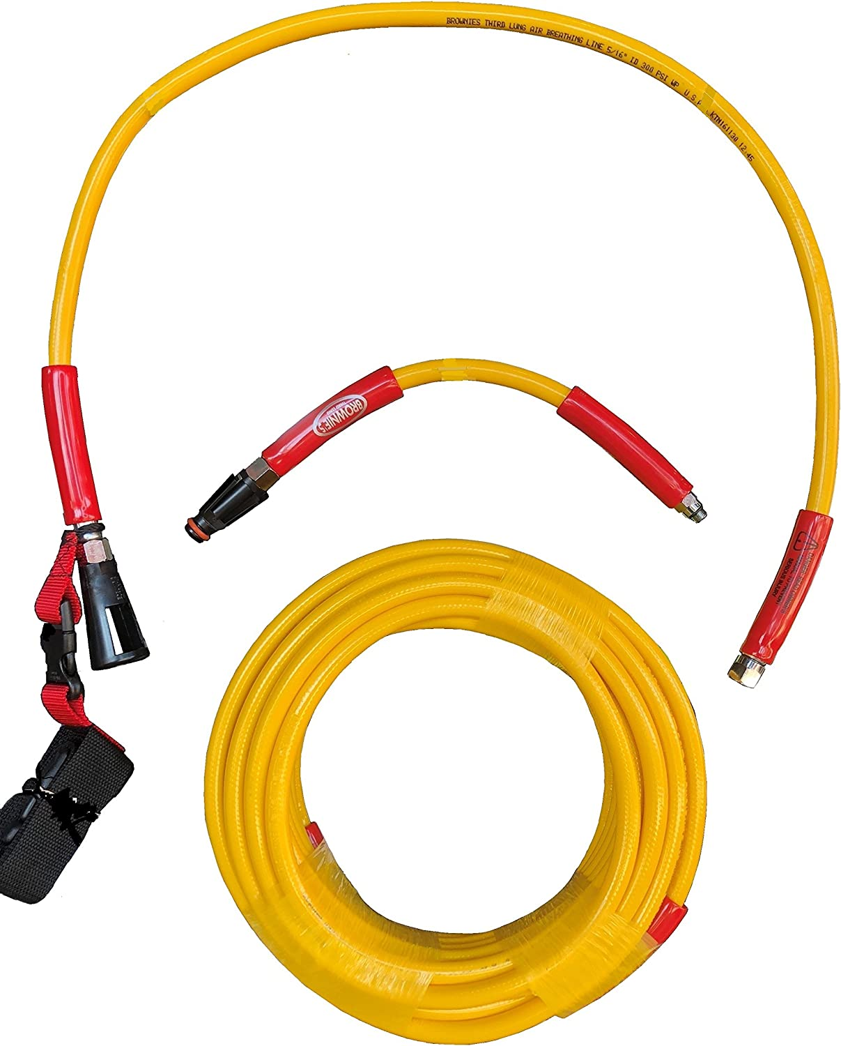 Brownie/'s Third Lung 70 ft Hookah Hose With  2nd Stage Scuba Regulator