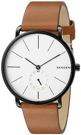 d9aa330a27 Amazon.com  Skagen Men s SKW6216 Hagen Dark Brown Leather Watch ...
