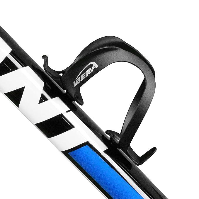 Ibera Bicicletas Porta Bid?n, Jaula de Botella Aluminio Ligero, Viene en cuatro colores: Carbono, Negro, Plateado, Blanco.: Amazon.es: Deportes y aire libre