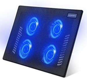 Laptop Cooling Pad, Childly&Choicely Laptop Cooler, Portable Slim Quiet Laptop Notebook Cooler Cooling Pad Stand with 4 Fans, Fits up to 15.6 inches