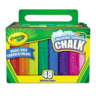 Crayola 512048 Washable Sidewalk Chalk 48 Assorted Bright Colors 48 Sticks/Set: Office Products