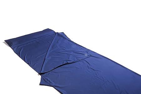 BAHIDORA Sábana para Saco de Dormir, Perfecta para Viajes, Microfibra. Ideal para: Viajes mochileros, Senderismo, Acampada y para albergues, Azul Oscuro, ...