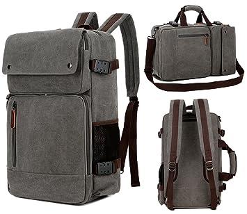 0b8c8e1371 Baosha Bc-08 multifonction 3 en 1 pour homme sacoche sac à dos Sac à  bandoulière convertible vintage Toile Sac à dos pour ordinateur portable ...