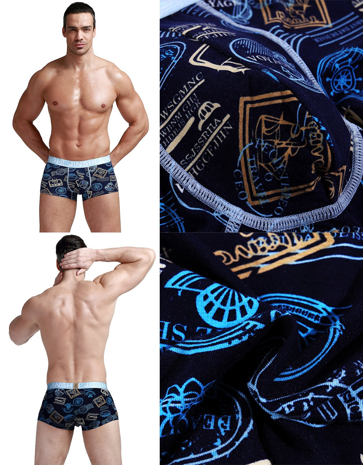 JINSHI Men's Boxer Briefs Athletic Soft Printed Bamboo Underwear 8 Pack 02 US XS/CN M by SHENGRUI (Image #6)