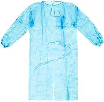 Medop 912064 Batas Desechables, 20 g, Bolsa de 10, Color Azul