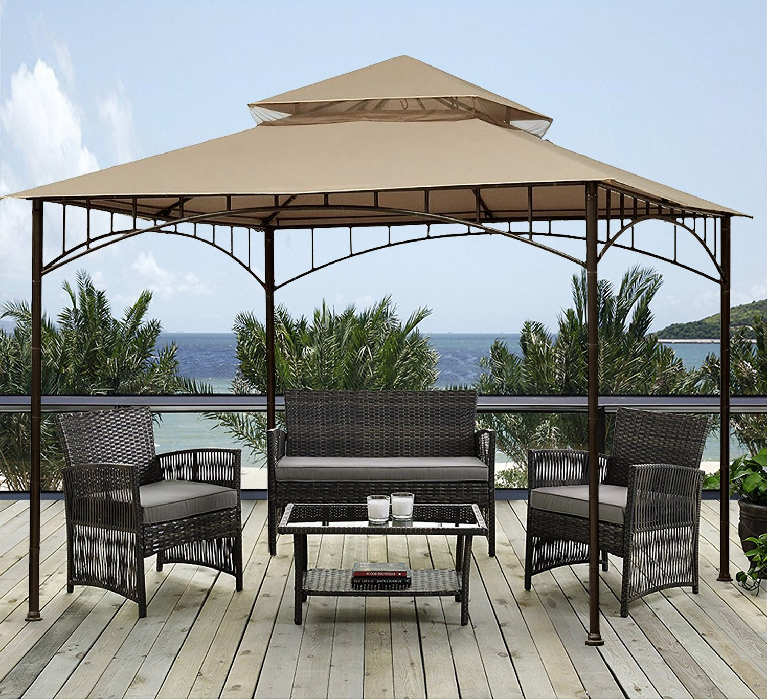 sunjoy 10' x 10' Grove Patio Canopy Gazebo by sunjoy