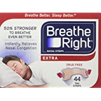 Breathe Right Extra Strong Nasal Strips One Size Fits All Tan 44 Ct