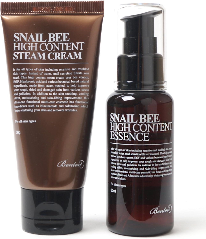 Esencia de alto contenido de caracol y abeja (60 ml) y crema Steam Cream (50 g) de Benton