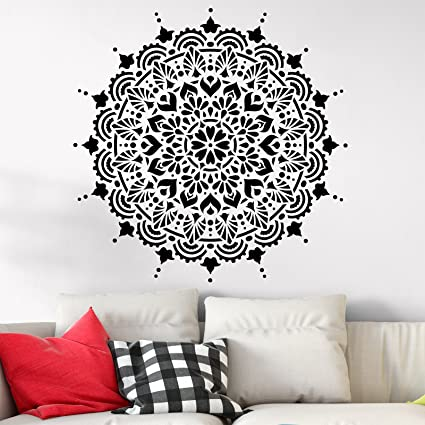 Paradise Mandala Stencil Template Walls Crafts Reusable Stencils Painting In Small Large Sizes