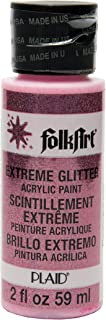 product image for FolkArt Extreme Glitter Acrylic Paint in Assorted Colors (2 oz), 2766, Neon Pink